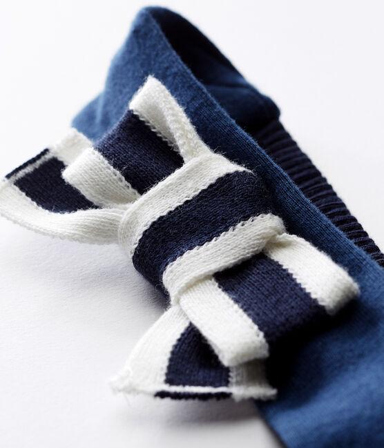 Baby girls' headband Smoking blue / Marshmallow white