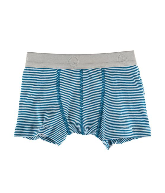 Boys' Boxer Shorts blue Contes / Marshmallow white