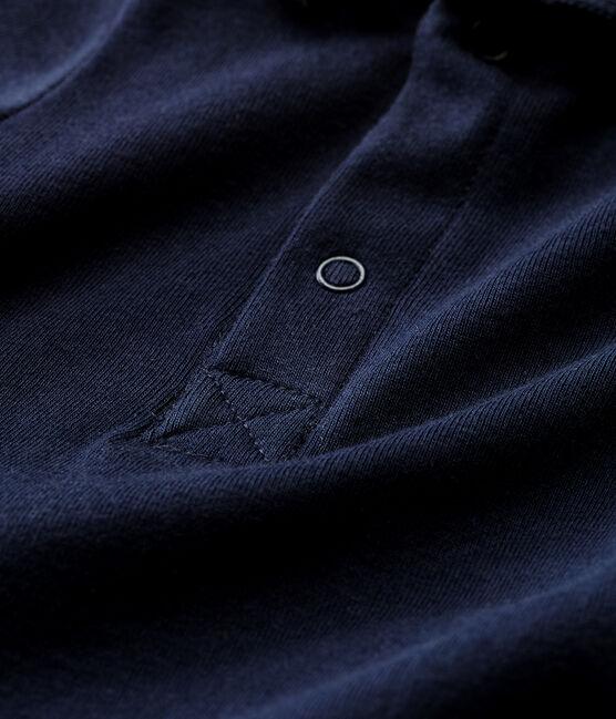 Baby boys' plain bodysuit with polo shirt collar SMOKING
