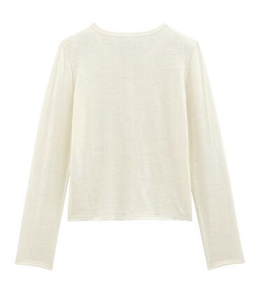 Women's Linen Cardigan Marshmallow white