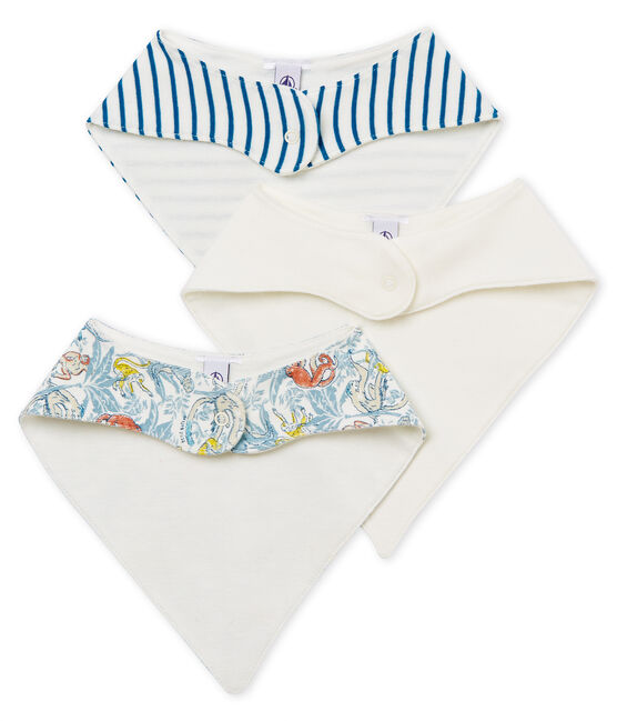 Baby Boys' Bibs in Cotton - Set of 3 . set