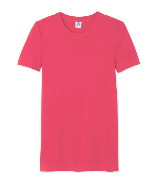 Women's striped tee Gloss pink