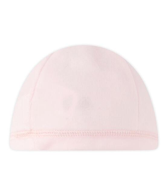 Unisex newborn baby's velour hat Vienne pink