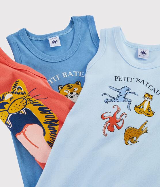 Boys' Yoga Animals Vests - 3-Piece Set . set