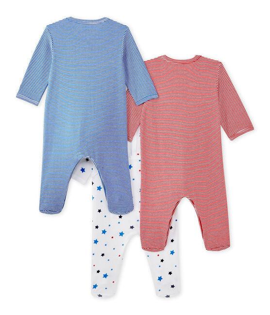 Set of three baby boy's sleepsuits . set