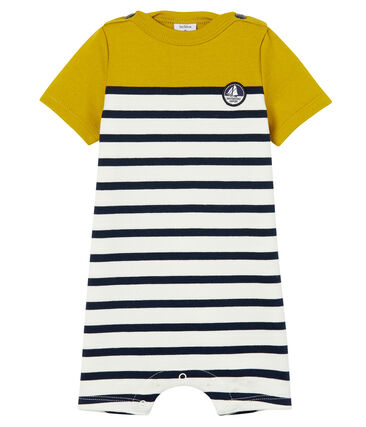Baby boys' Shortie in heavy striped jersey