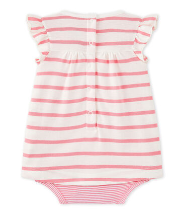 Baby girls' striped bodysuit dress
