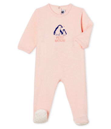 Baby Girls' Sleepsuit in Extra Warm Brushed Terry Towelling