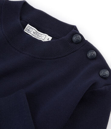 Men's Plain Sailor Pullover Smoking blue