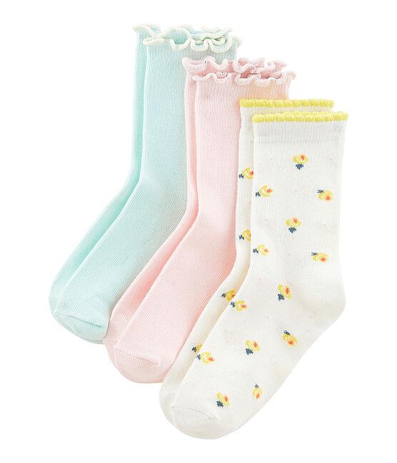 Set of 3 pairs of socks for girls . set