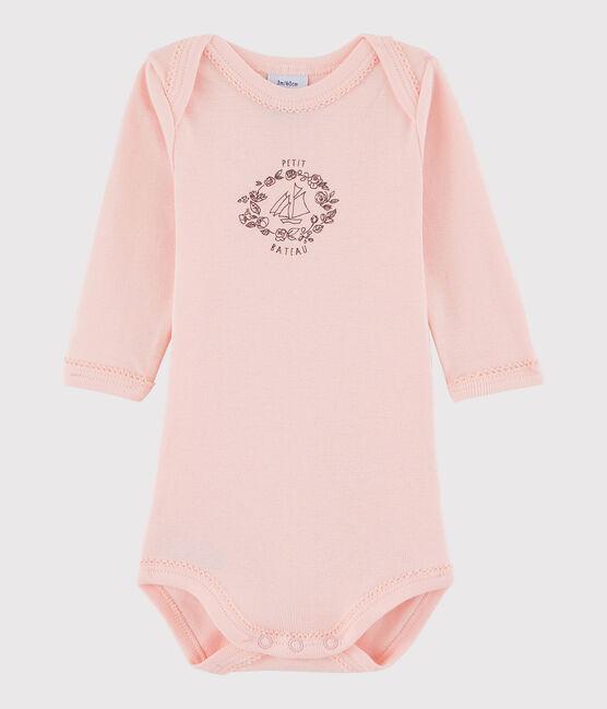 Baby Girls' Long-Sleeved Bodysuit Venus pink