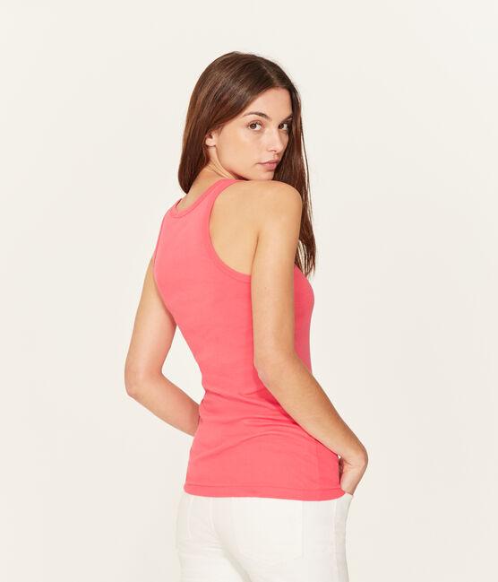 Women's sleeveless top Groseiller pink