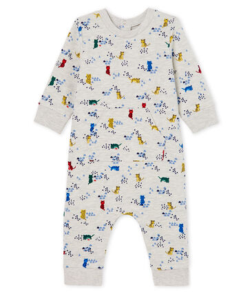 Baby Boys' Long Printed Jumpsuit Beluga grey / Multico white