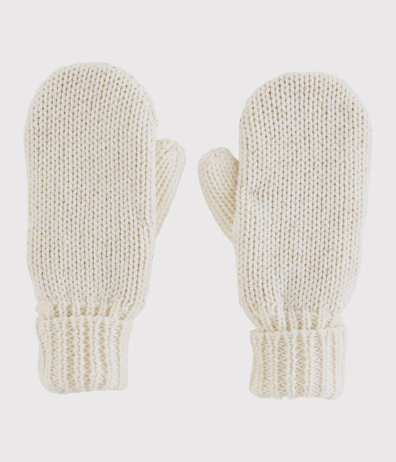Girls' Mittens Marshmallow white / Or yellow