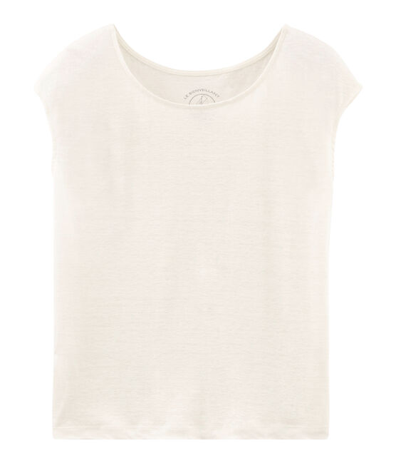 Women's Linen T-Shirt Marshmallow white