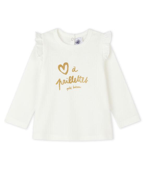 Baby Girls' Long-Sleeved Blouse Marshmallow white