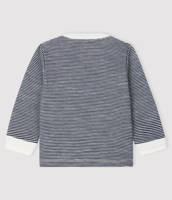 Baby boy's t-shirt Smoking blue / Marshmallow white