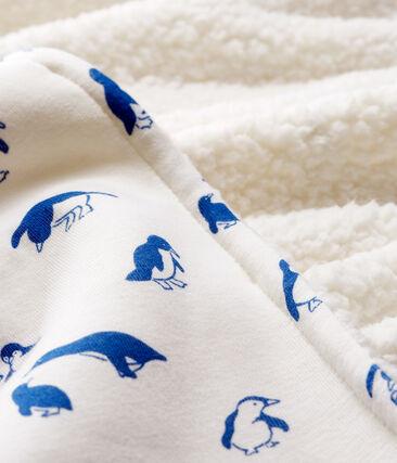 Babies' Rib Knit and Sherpa Blanket