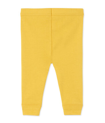 Baby girls' leggings Ocre yellow