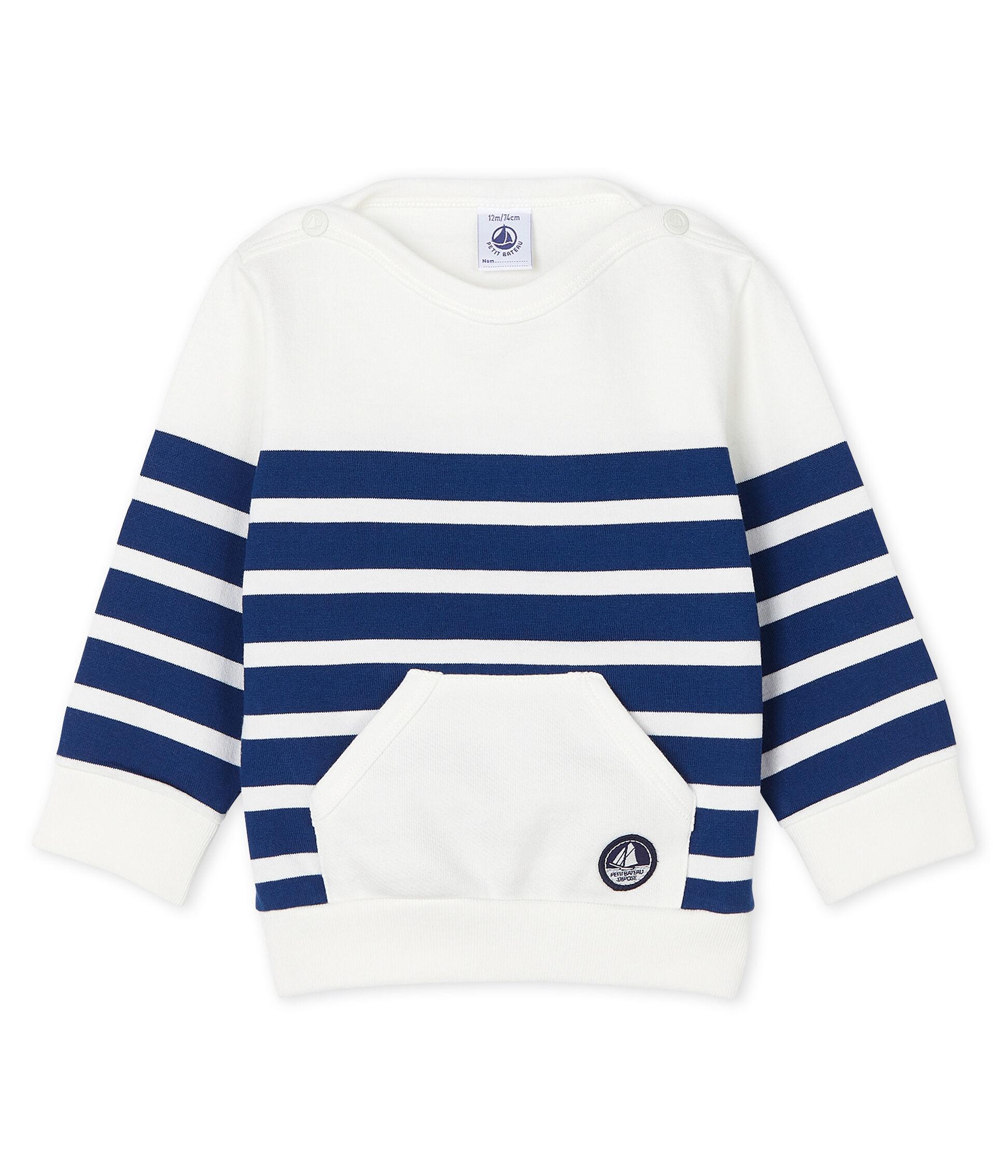 3 Months Blue Petit Bateau Baby Boys Sweatshirt
