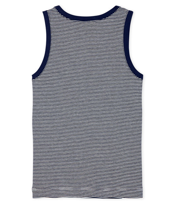 Boys' Vest Smoking blue / Marshmallow white
