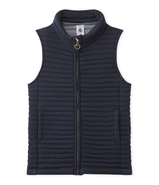 Sleeveless jacket Smoking blue