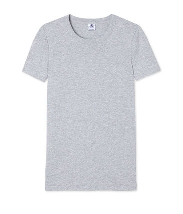 Women's short-sleeved crew neck iconic t-shirt Poussiere Chine grey