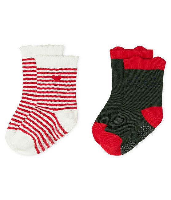Baby Girls' Socks - 2-Piece Set Sousbois green