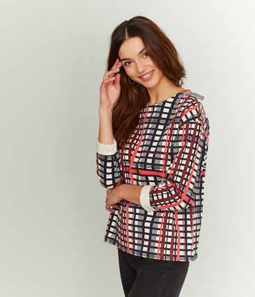 Women's Checked Sailor Top