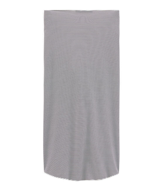Women's wrap-around skirt Abysse blue / Lait white
