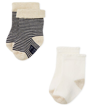 Baby girls' socks - pack of 2