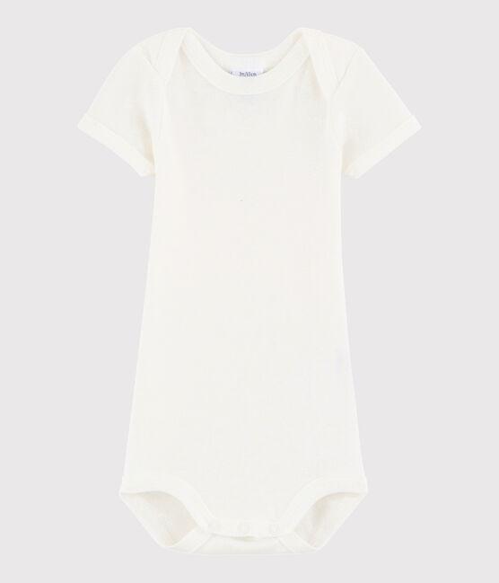 Unisex Babies' Short-Sleeved Bodysuit Marshmallow white