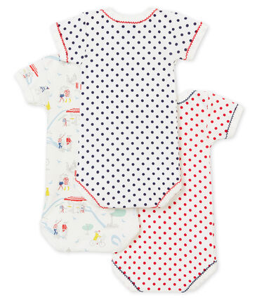 Baby girl's short sleeved body trio