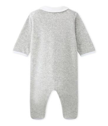 Baby's unisex velour sleepsuit