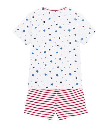 Boy's print and striped shortie pyjamas