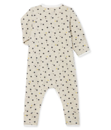 Baby Boys' Long Wool/Cotton Jumpsuit Montelimar beige / Multico white