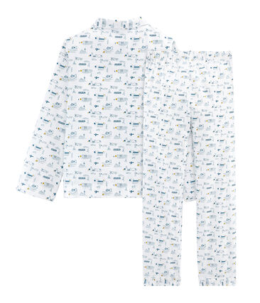 Boys' Cloth Pyjamas Marshmallow white / Shadow blue