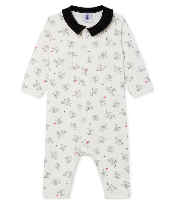 Baby Boys' Footless Ribbed Sleepsuit Marshmallow white / Multico Cn white