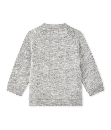 Baby boy's slubbed cardigan Gris grey