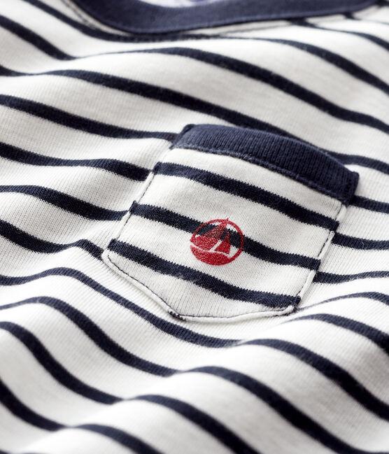 Baby boy's t-shirt Marshmallow white / Smoking blue