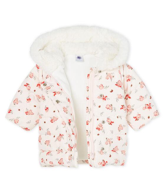 Baby Girls' Print Microfibre Down Jacket Fleur pink / Multico white