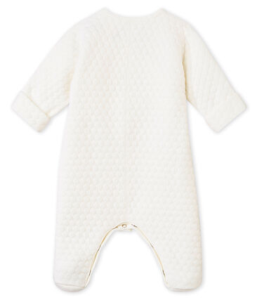 Two-in-one sleepsuit in a quilted tubic