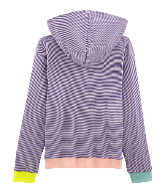 Women's Hoody Real purple / Marshmallow white