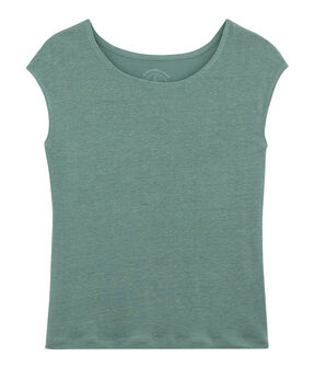 Women's Linen T-Shirt Brut blue