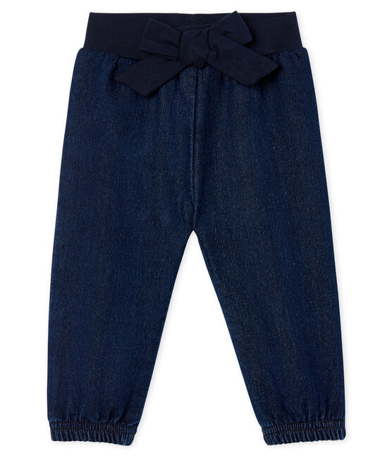 Baby Girls' Denim Look Trousers Jean blue