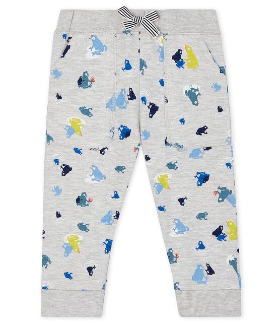 Baby Boys' Print Trousers Beluga grey / Multico white