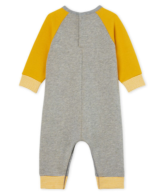 Baby Boys' Long Fleece Jumpsuit Subway grey / Boudor yellow