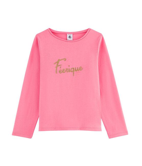 Girls' Long-Sleeved T-Shirt Cupcake pink