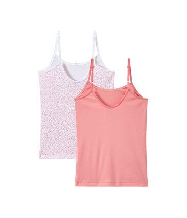 Set of 2 girls' camisoles