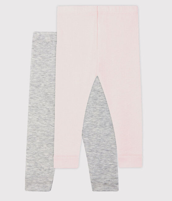 Pack of 2 leggings for baby girls . set